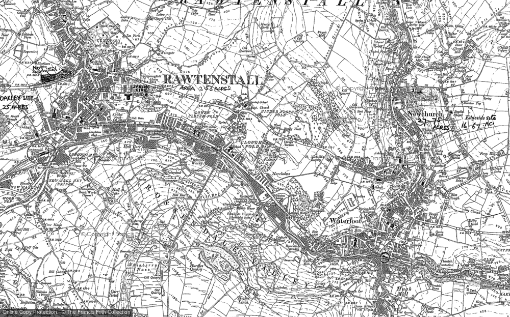 Old Map of Newchurch, 1891 in 1891
