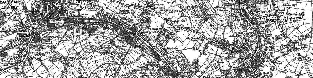 Old map of Newchurch in 1891
