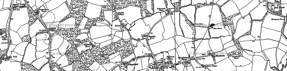 Old map of Cudworth in 1895