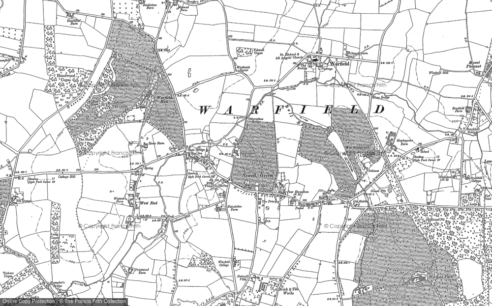 Old Map of Historic Map covering Tickleback Row in 1898