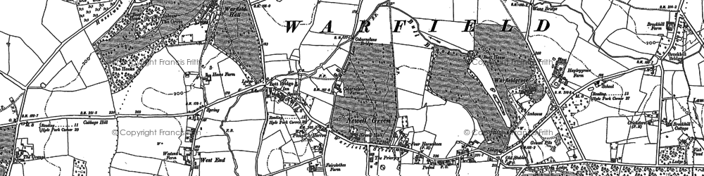 Old map of Cabbage Hill in 1898