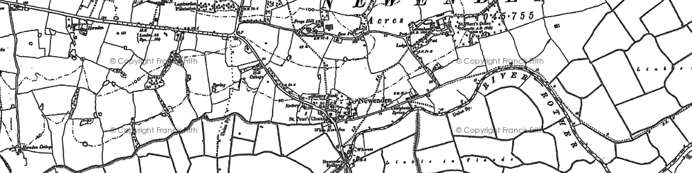 Old map of Wet Level in 1908