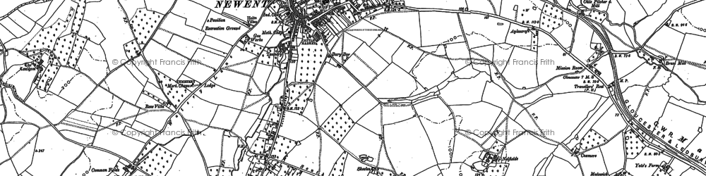 Old map of Newent in 1882