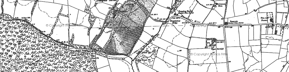 Old map of Tylers Causeway in 1896