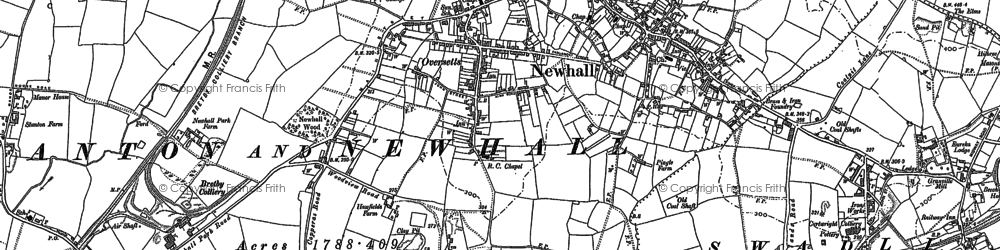 Old map of Newhall in 1881
