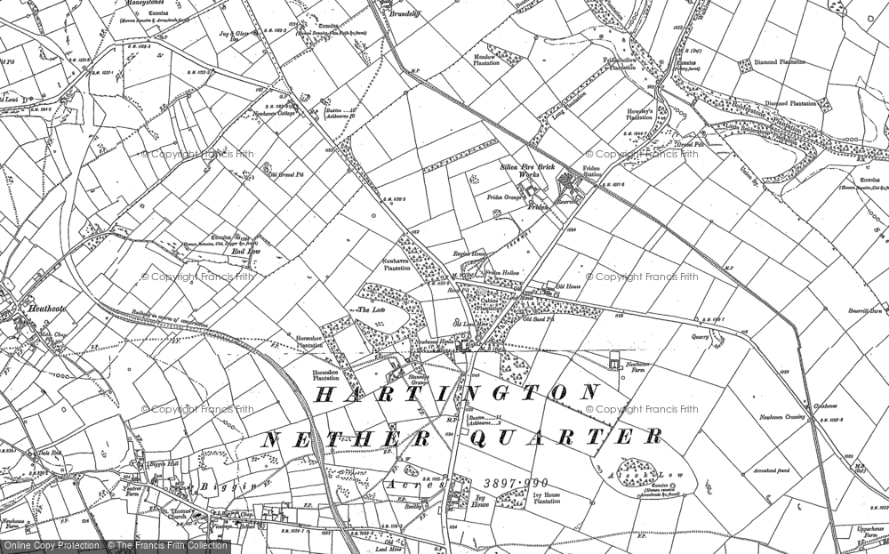 Old Map of Historic Map covering Aleck Low in 1879