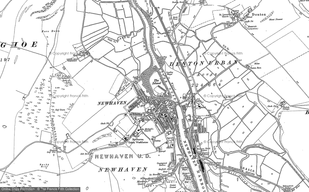 Old Map of Newhaven, 1908 in 1908