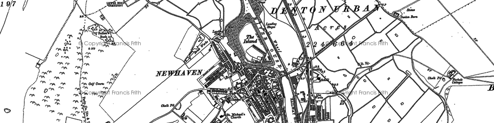 Old map of Newhaven in 1908