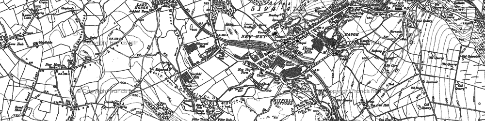 Old map of Whitefield Hall in 1907