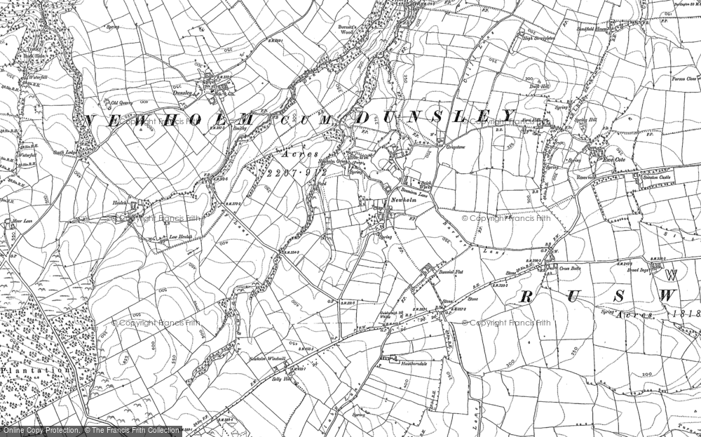 Old Map of Newholm, 1911 in 1911