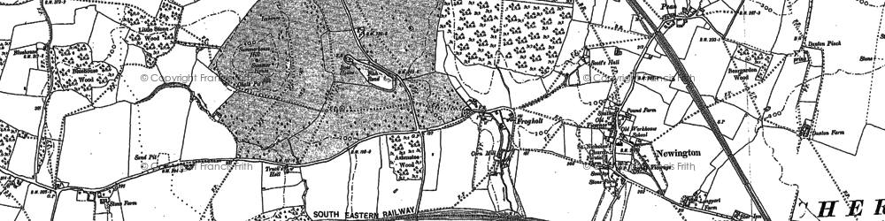 Old map of Newington in 1906