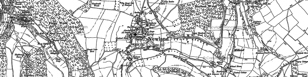 Old map of Newland in 1900