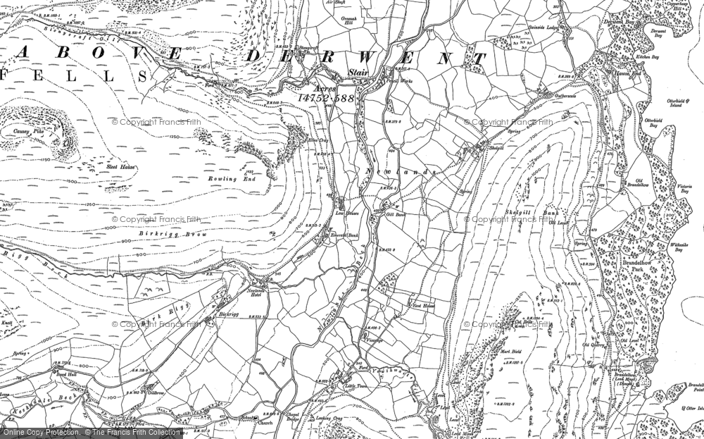 Old Map of Historic Map covering Aikin Knott in 1898