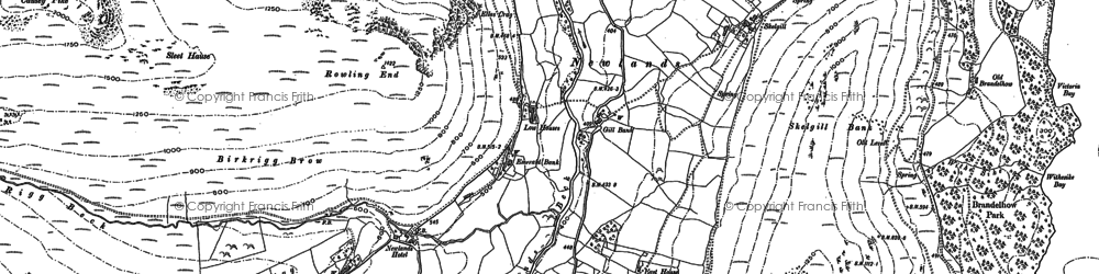 Old map of Aikin Knott in 1898