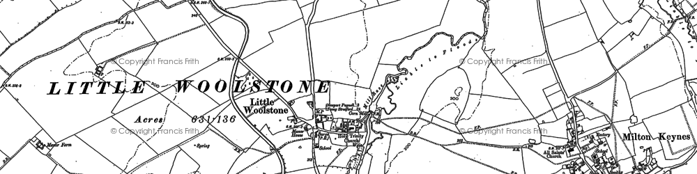 Old map of Newlands in 1924