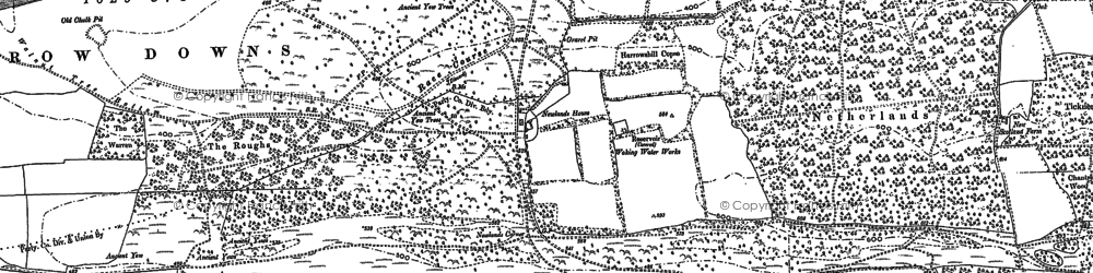 Old map of Albury Downs in 1895