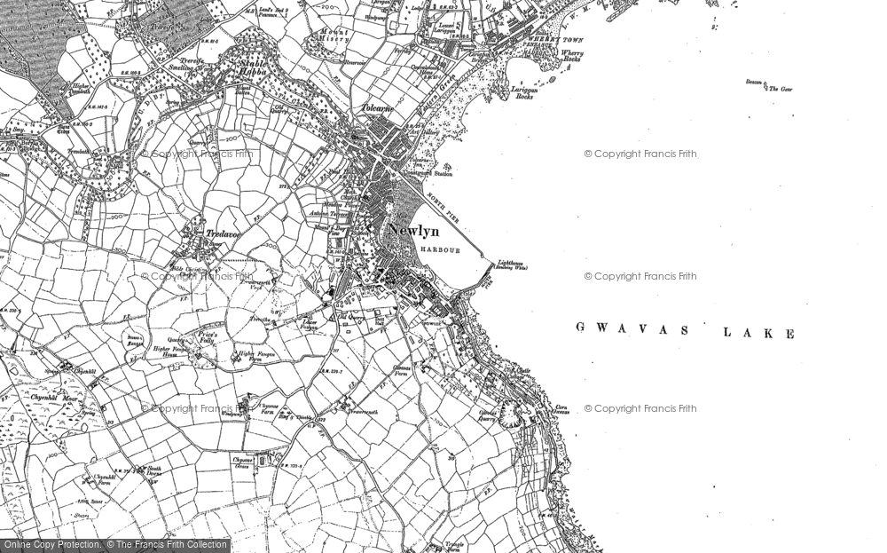 Old Map of Historic Map covering Tidal Observatory in 1906