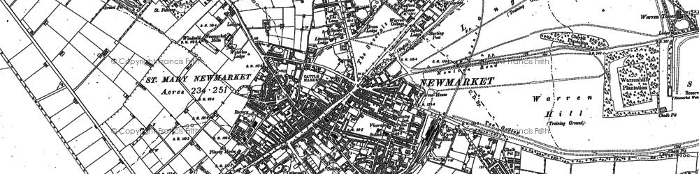 Old map of Balaton Lodge in 1884