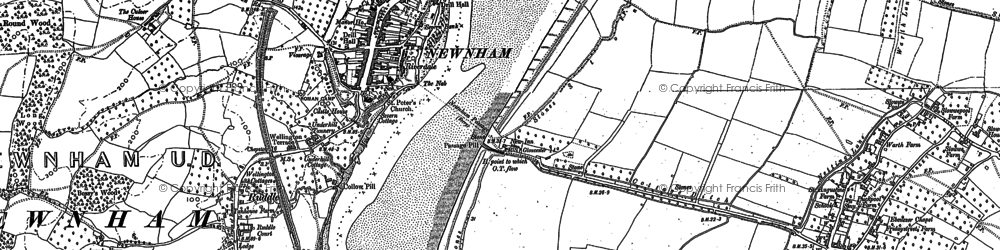 Old map of Newnham in 1879