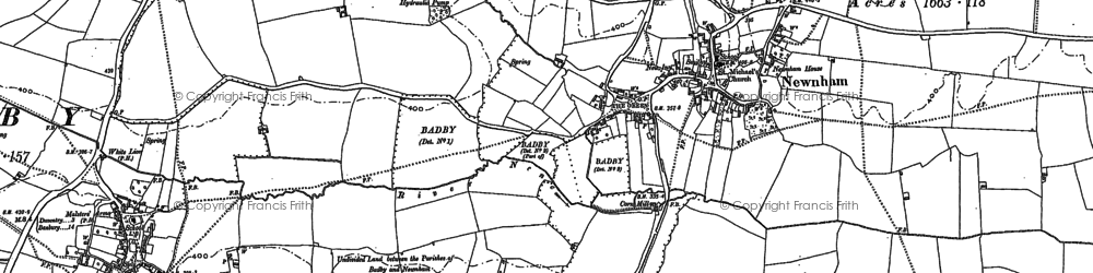 Old map of Newnham in 1883