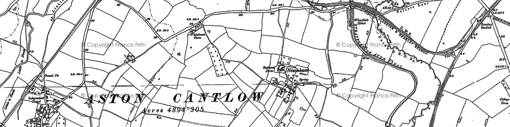 Old map of Bearley Cross in 1885