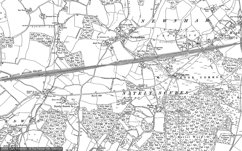 Old Map of Newnham, 1894 in 1894