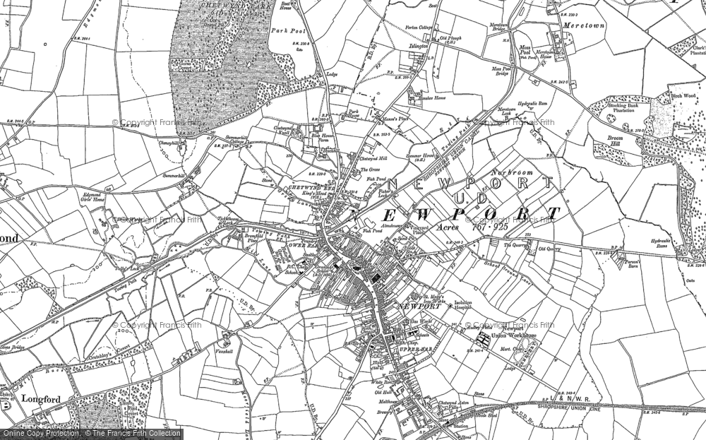 Old Map of Newport, 1880 - 1900 in 1880