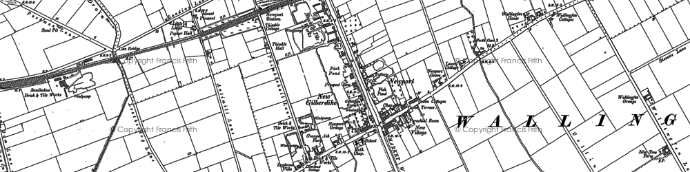 Old map of Newport in 1888