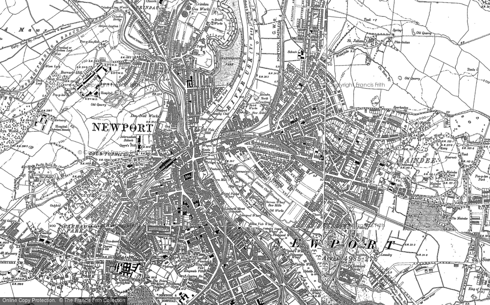 Old Map of Newport, 1899 - 1900 in 1899