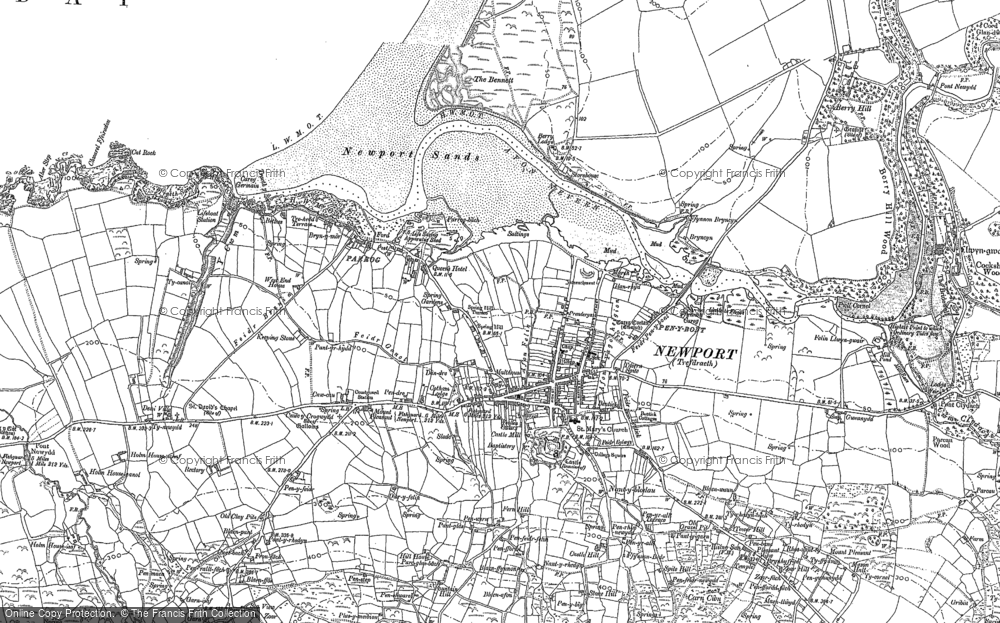 Old Map of Historic Map covering Afon Nyfer in 1906