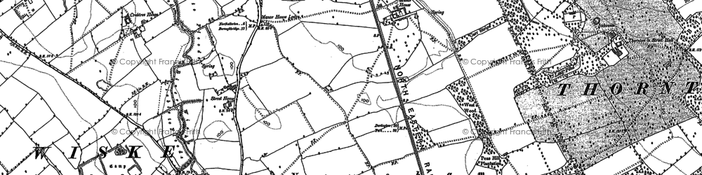 Old map of Avenue Grange in 1892