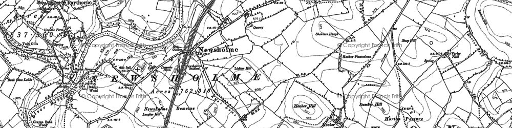 Old map of Willcross in 1892