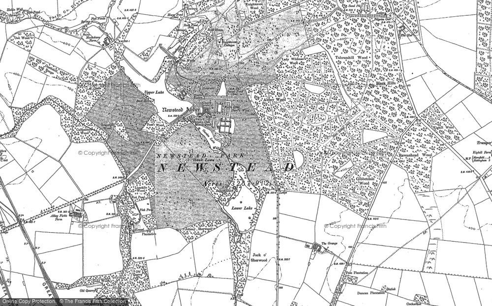 Old Map of Historic Map covering Abbey Wood in 1899