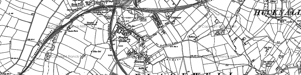 Old map of Newton in 1877