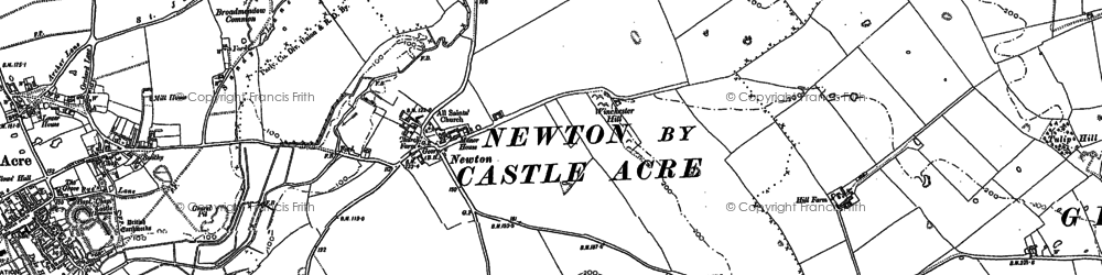 Old map of Winchester Hill in 1883