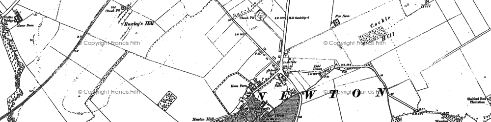 Old map of Newton in 1885