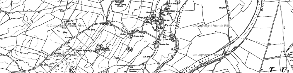 Old map of Newton in 1910