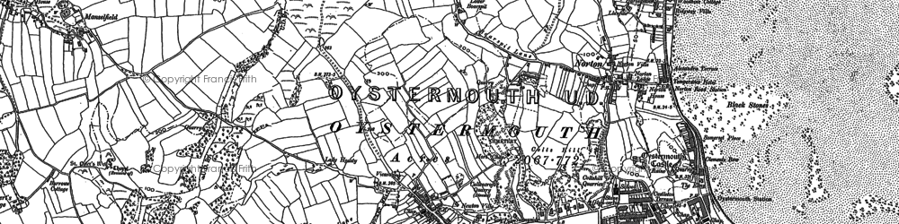 Old map of Newton in 1913