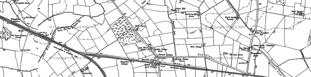 Old map of Newton Aycliffe in 1896