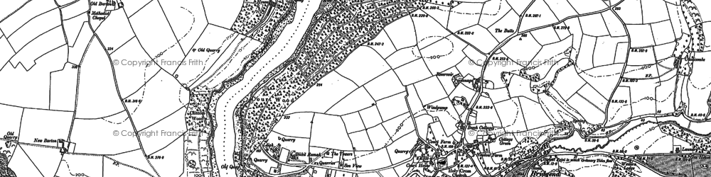 Old map of Newton Ferrers in 1905