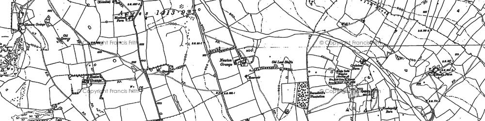 Old map of Tissington Spires in 1879