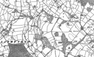 Old Map of Newton Hurst, 1881
