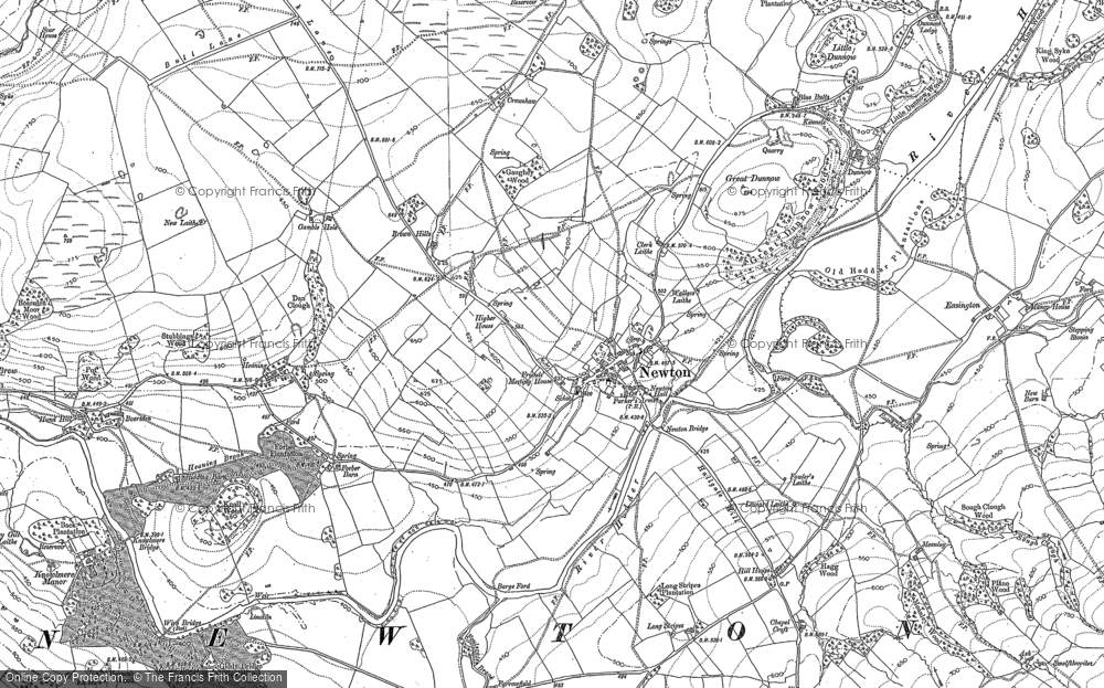 Old Map of Historic Map covering Ashnott in 1907