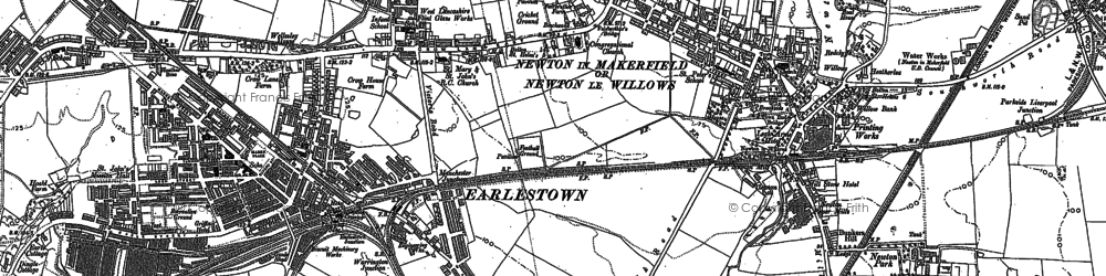 Old map of Newton-le-Willows in 1891