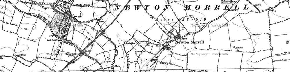 Old map of Willow Br in 1892