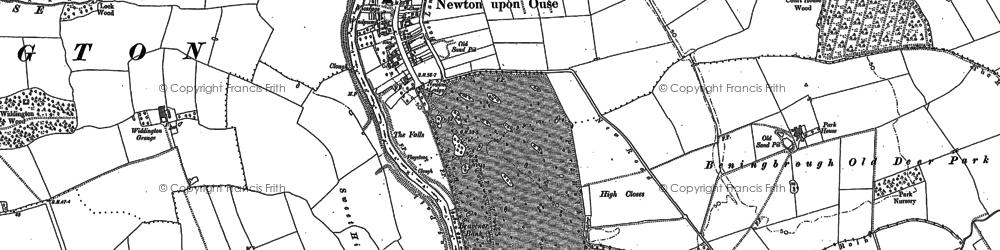 Old map of Widdington Grange in 1892