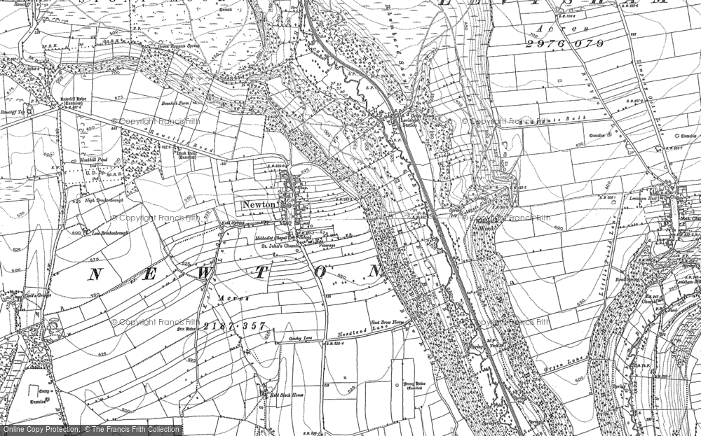 Old Map of Newton-on-Rawcliffe, 1891 in 1891