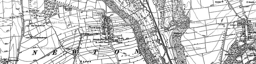Old map of Levisham Sta in 1891