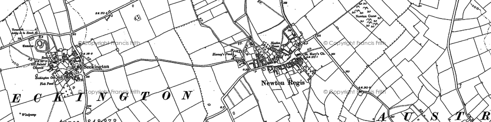 Old map of Newton Gorse in 1900