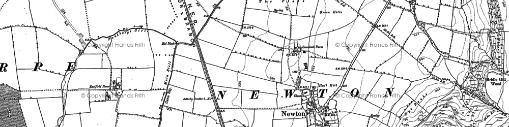 Old map of Langbaurgh Ridge in 1892
